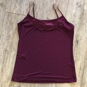 The Limited Maroon Camisole with Metallic Accent
